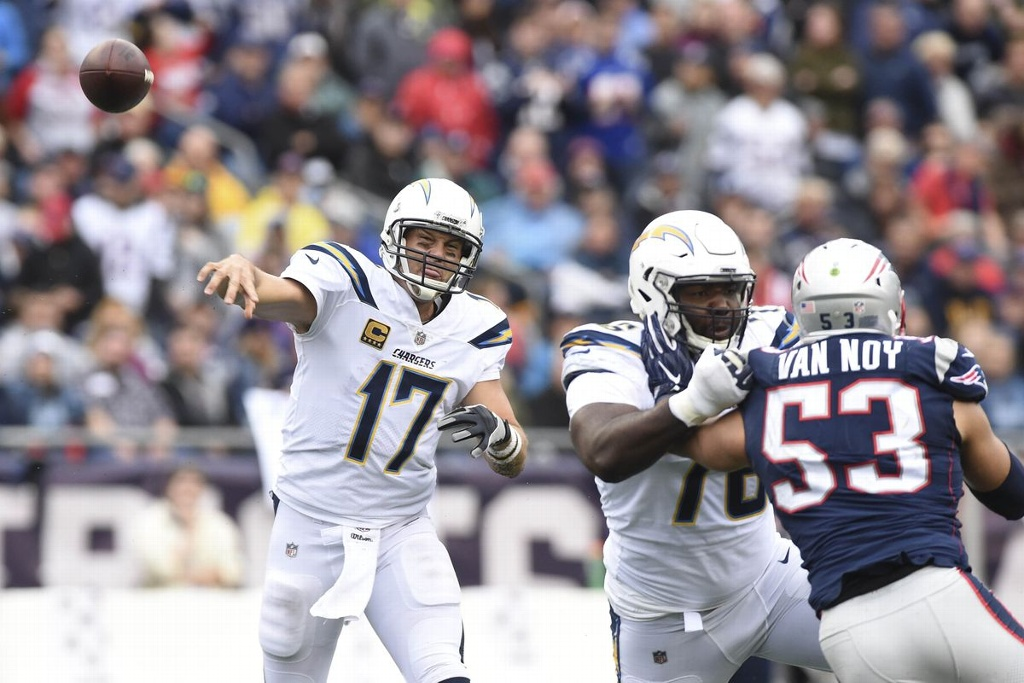 NFL: Pats favoritos ante los Chargers