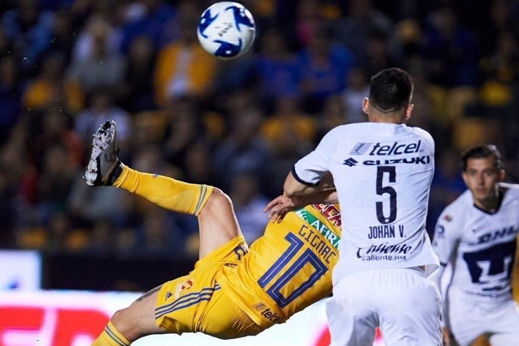 ¡Espectacular! Gignac anota de chilena y llega a 125 goles con Tigres (VIDEO)