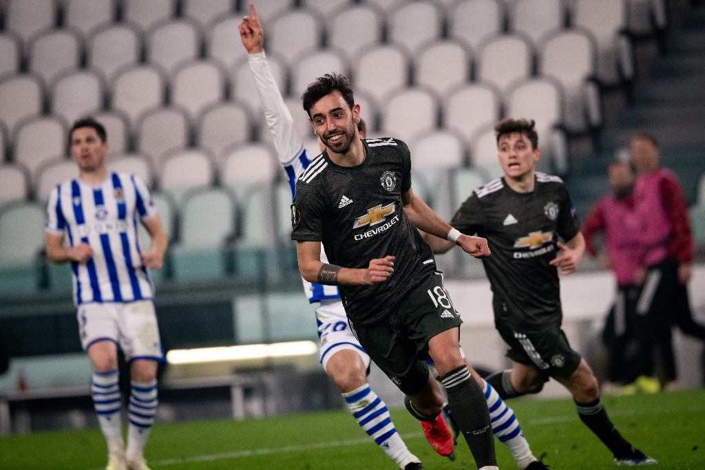 Manchester United golea a la Real Sociedad en Europa League