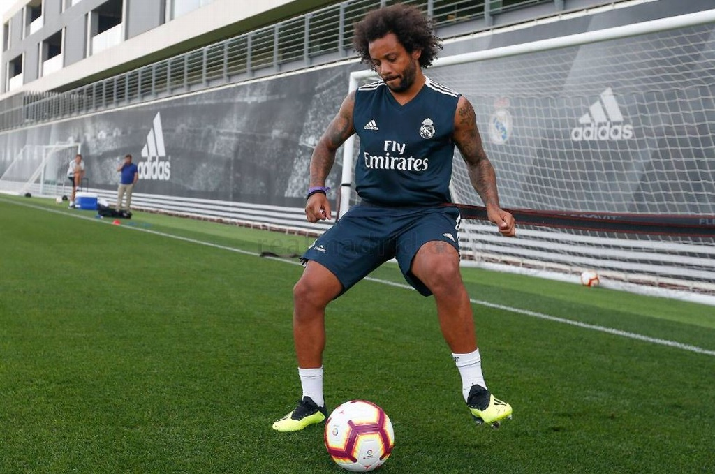 Marcelo reporta con el Real Madrid