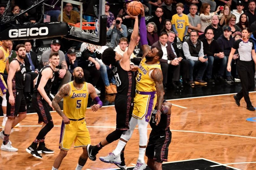 NBA: Nets en plan grande vencen a los Lakers