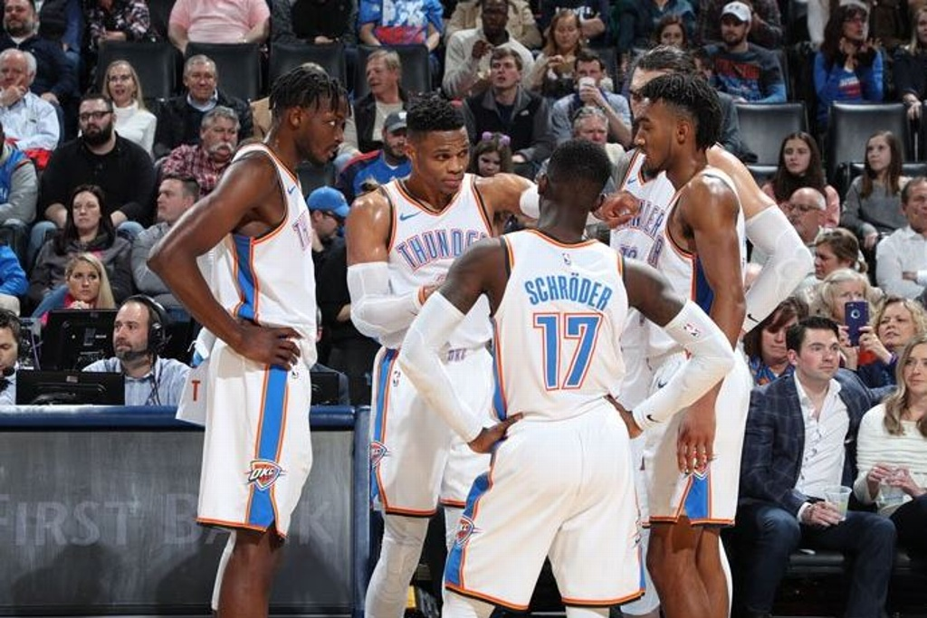 NBA: Westbrook y George intratables en triunfo del Thunder