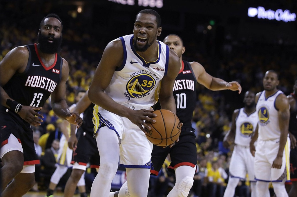 Kevin Durant será baja de Warriors en inicio de la final de NBA