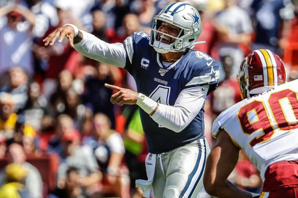 NFL: Dallas vence a Washington y Patriotas abusa de Miami