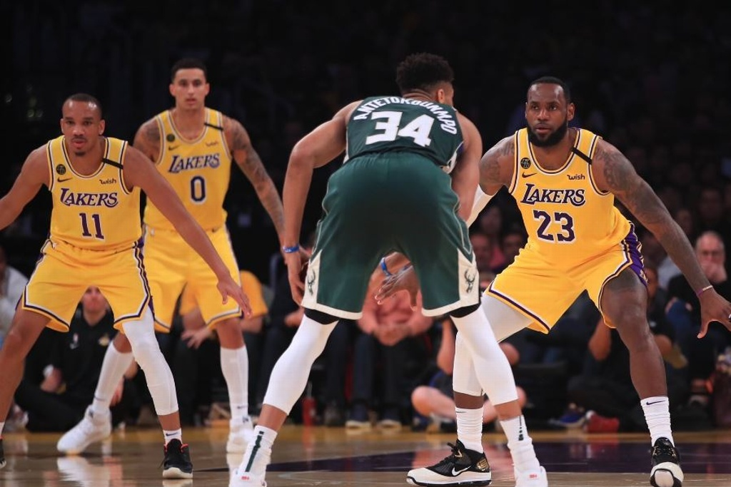 NBA: Lakers y LeBron doblegan a los Bucks