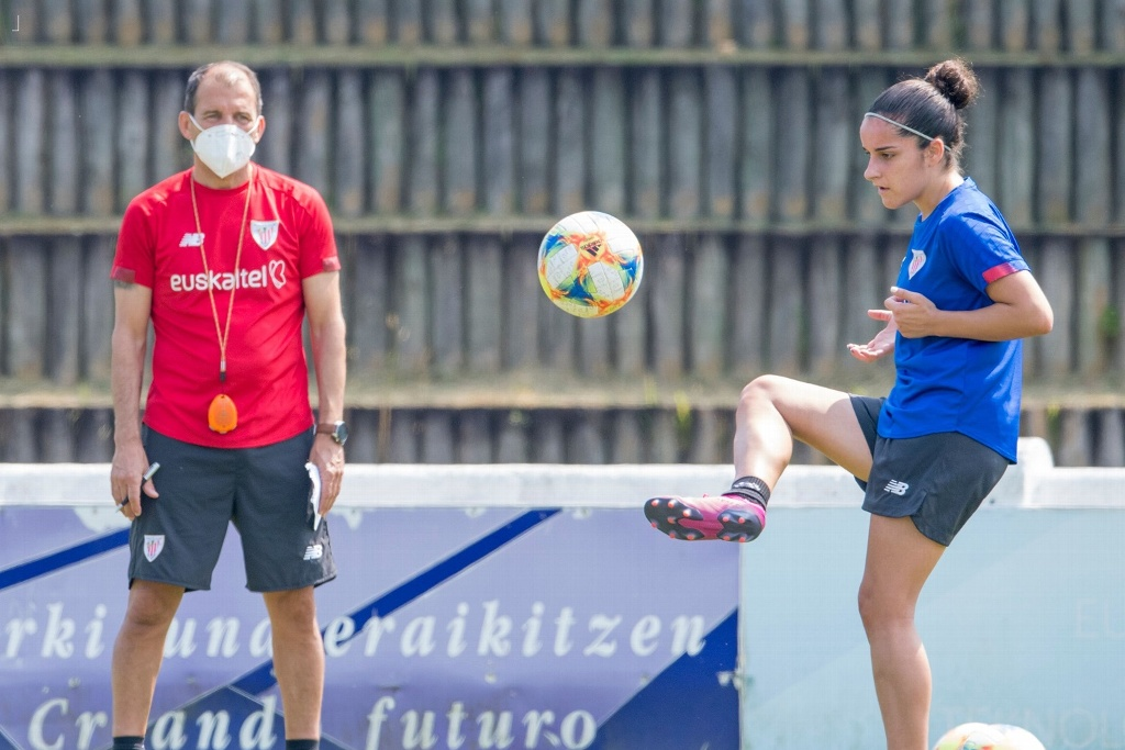 Athletic Club femenil retoma entrenamientos en Zamudio