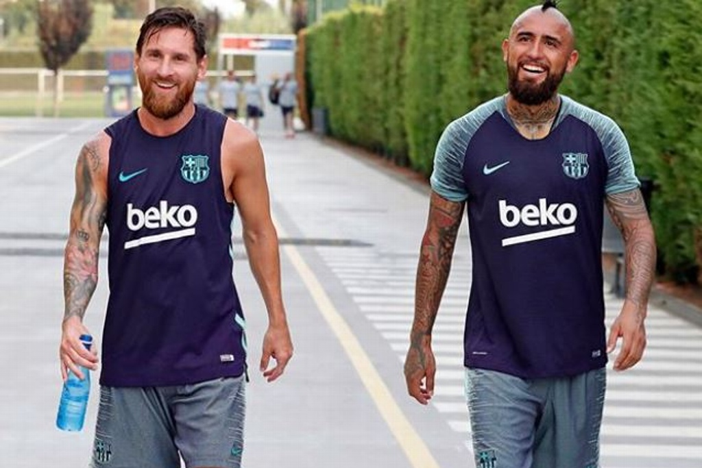 Messi se despide de Vidal