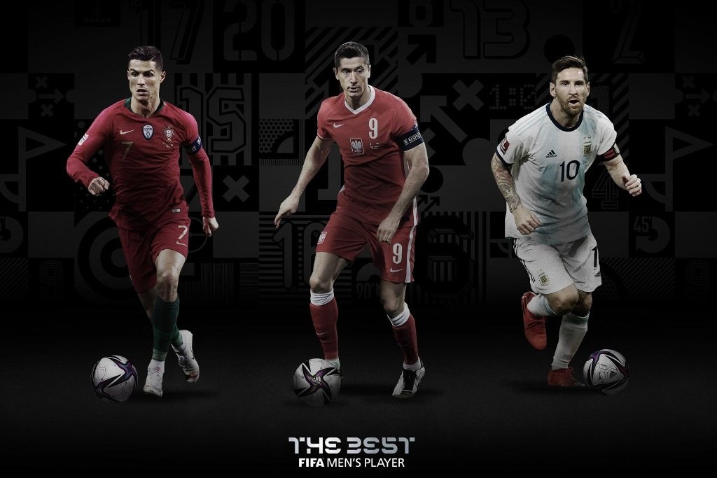 Messi, Cristiano y Lewandowski finalistas del premio The Best 2020