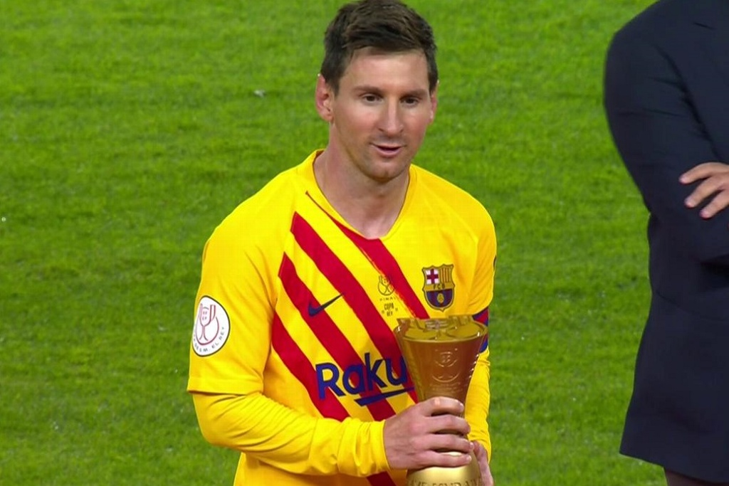 Messi, el MVP en la final de la Copa del Rey (VIDEO)
